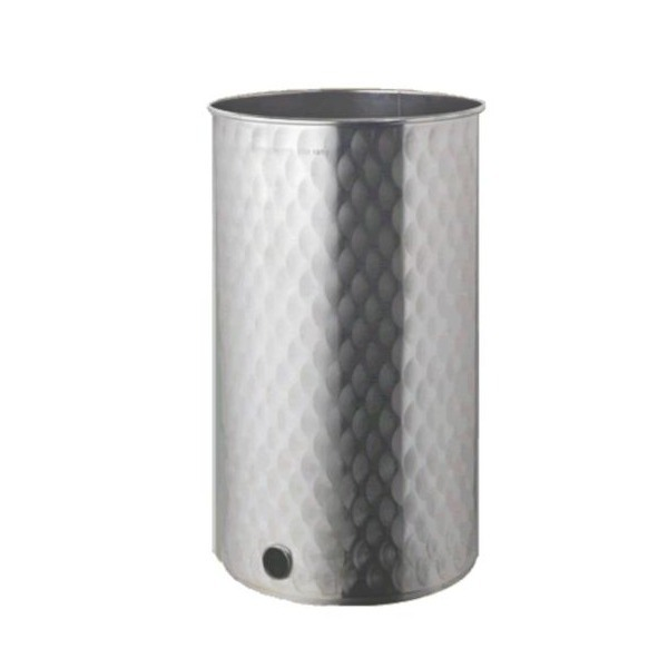 Depósito floreado con tapa de polvo para miel INOX 304-mundobodega