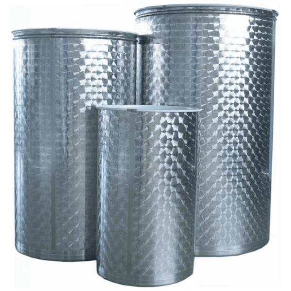 Depósito floreado para aceite con tapa de polvo INOX 316-mundobodega