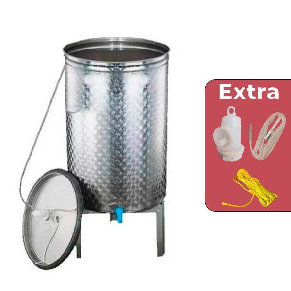 Depósito para vino acero inox. 304 ECO siempre lleno con cierre neumático con trípode