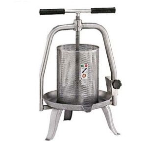Prensa manual de vino en acero inoxidable V20