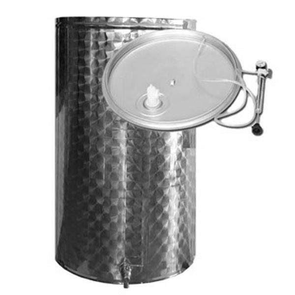 Depósito para vino acero INOX. 304 supereco siempre lleno con cierre neumático