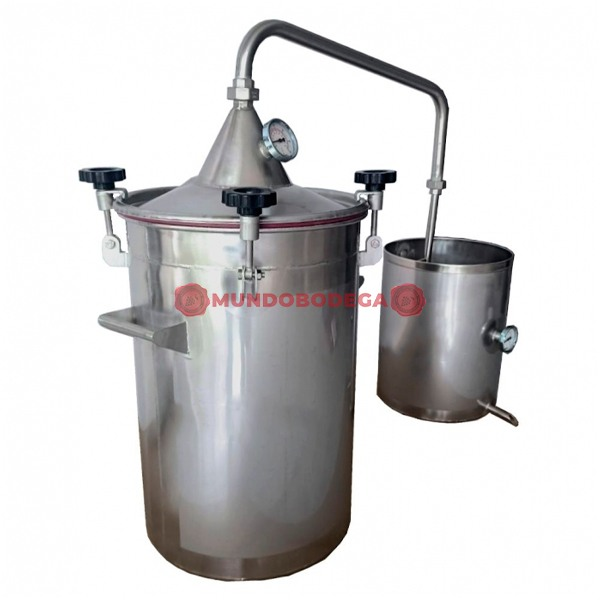 Alambique de acero INOX 50 L-mundobodega-2