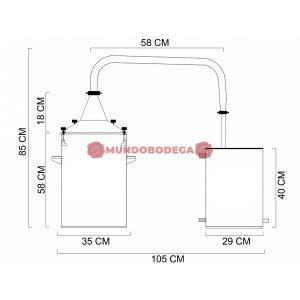 Alambique de acero INOX 50 L-mundobodega-3