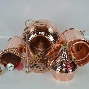 Alambique de cobre clasico remachado 3 litros