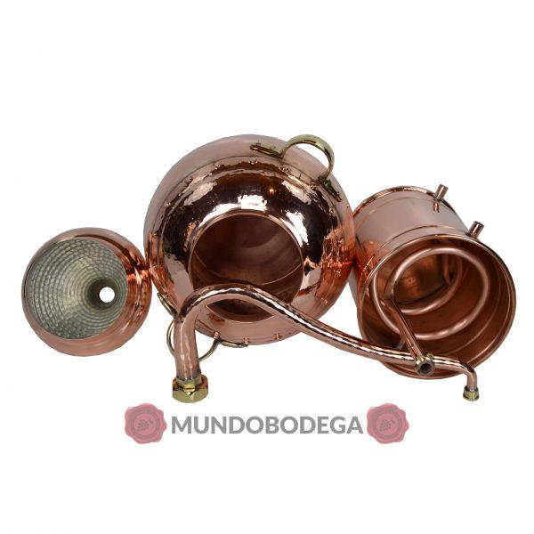 Alambique de cobre clasico remachado 20 litros