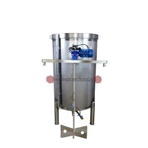 deposito inox agitador electrico 2