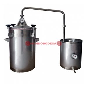 Alambique de acero INOX 30 L-mundobodega